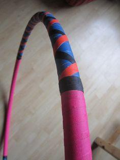 Hula Hoop  Pink & Blue Cross taped van CircleCircus op Etsy,
