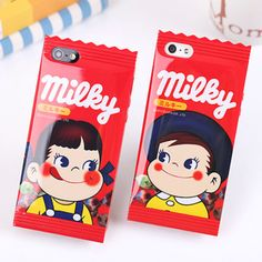 Red milky japan candy wrapper iphone case