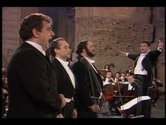 The Three Tenors--Pavarotti, Domingo, and Carreras--sing a medley of songs from various countries.  (HQ)