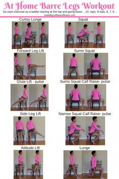 At Home Barre Legs Workout - Fueled by Coffee and Fitness Very good workout.