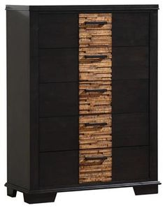 Dominic Contemporary Charcoal Grey Wood Chest