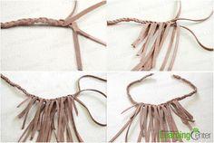 Step 2: insert fringes to finish the braiding