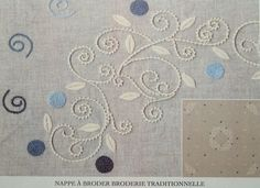 Palestrina blue tablecloth | The French Needle | French Needlework Kits, Cross Stitch, Embroidery, Sophie Digard