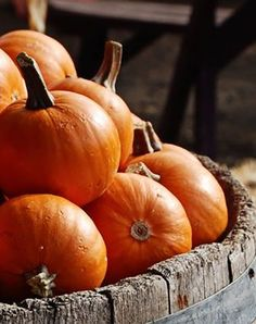 In Season - October. Pumpkin: Pick a pumpkin that feels heavy and doesn't have any soft spots.