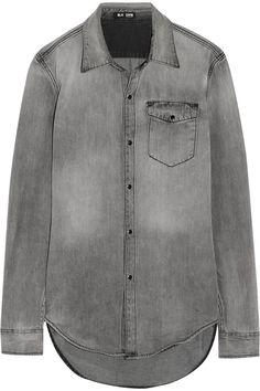 BLK DNM|Distressed denim shirt|NET-A-PORTER.COM, $215, cotton, machine wash