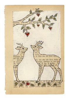 Book Page Art  print...carambatack via Etsy