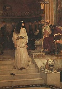Mariamne Leaving the Judgement Seat of Herod  ( 1887 waterhouse) Mariamne was a Jewish Princess and popular heroine in Jewish and Christian Traditions.