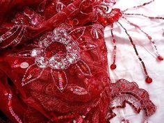 Saristoff Perlen Pailletten Strass Stoff Jli kurdi von TalauraArts