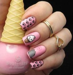 Having short nails is extremely practical. The problem is so many nail art and manicure designs that you'll find online Nails For Kids, Girls Nails, Kid Nails, Nail Swag, Cute Nail Art, Nail Art Diy, Best Acrylic Nails, Matte Nails, Little Girl Nails