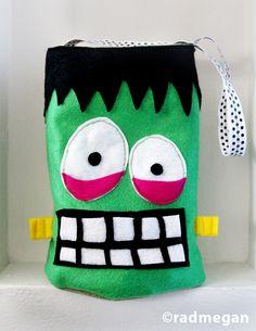 Felt Frankenstein Candy Bag for Halloween - Radmegan