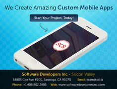 We create amazing custom #mobileapps, Start your project today!