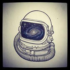 astronaut galaxy tattoo - Google Search