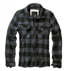 Brandit Mens Check Shirt Black  Grey size XL ** Click image to review more details.(This is an Amazon affiliate link)