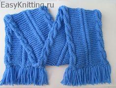 Детский двухсторонний шарф: описание, схема, видео.