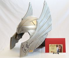 Thor helmet signed by Chris Hemsworth and Stan Lee for our auction http://www.ebay.com/sch/m.html?_nkw=&_armrs=1&_ipg=&_from=&_ssn=californiabrowncoats&_sop=1