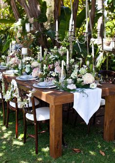 """Spellbinding flower combinations and earthy details make for a fantasy reception in this """"Rustic Romance"""" wedding theme at Paradise Point Resort & Spa in San Diego"""
