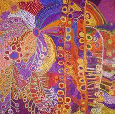Ruby Tjangawa Williamson and Wawiriya Burton Ultukunpa - Honey Grevillea 2012 198 x 198 cm