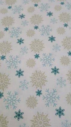 I Love Snow Holiday Polar Snowflake Cotton Fabric By the Yard by LaCreekBlue on…