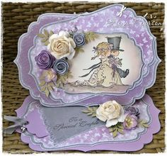 Pretty Cards, Love Cards, Anniversary Cards, Wedding Anniversary, Scrapbook Cards, Scrapbooking, Quilling Cards, Easel Cards, Looks Vintage