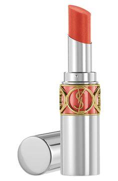 YSL Rouge Volupte Sheer Candy Glossy Lip Balm in Tangy Mandarine  #SephoraColorWash