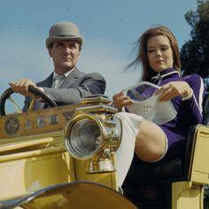 1967 English actress Diana Rigg and English actor Patrick Macnee as 'Emma Peel'…