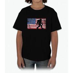 American Flag Bigfoot T-Shirt, Funny 4th of July Sasquatch Young T-Shirt