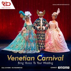 Bring Venice to weddings with our visually delightful Venetian Carnival Act!  For more such graceful acts, visit us now at: