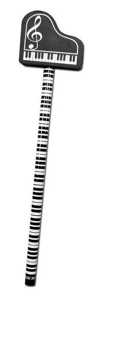 Bleistift mit Radiergummi Piano