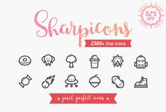 Special Offer: 52% OFF / 39$ Sharpicons is a huge bundle of 2300 line vector icons. Download a beautiful and modern set of icons that meet all your needs. Create stunning projects with 46