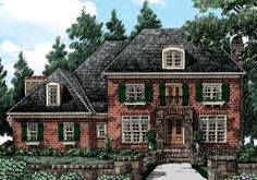 Eplans French Country House Plan - Arches Accentuate This Lovely Facade - 3931 Square Feet and 4 Bedrooms from Eplans - House Plan Code House Plans One Story, Cottage House Plans, Best House Plans, Cottage Homes, House Floor Plans, Farm House, Brick House Plans, Cottage Style, French Country House Plans