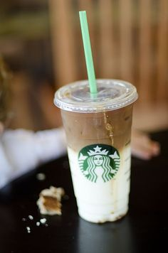 iced caramel macchiato. i don't drink these, i just love when people order them because they are fun to make.
