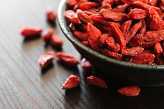 Add goji berries to your smoothies — they're loaded with antioxidants, beta carotene, vitamins A & C, and fiber; and they've even been shown to reduce tumor growth, improve vision, and boost libido.