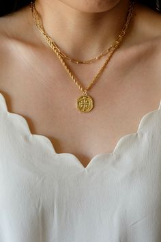 18K Gold Filled Rope Chain Necklace Set