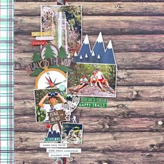 The mountains are calling with @simplestories_ 'Cabin Fever' #simplestories #sscabinfever #scrapbooking