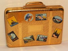 Vintage KIGU Suitcase 1950s Novelty Powder Compact