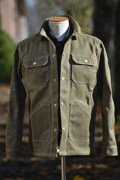 The Wills Jacket w/ 2019 Placeholder Keychain *Deposit* – Ship John Waxed Canvas Jacket, Bald Men Style, Gents Fashion, Rugged Fashion, Bespoke Clothing, Wax Jackets, Rugged Style, Moda Casual, Field Jacket