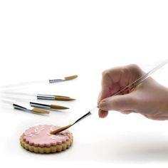 pinceles para decorar galletas y pasteles marca IBILI