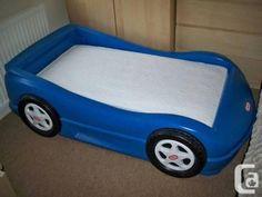 blue little tykes toddler race car bed