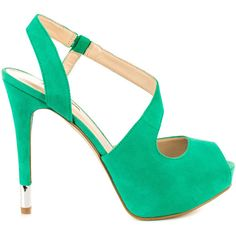 Guess Footwear Women's Hilarie - Dark Green Suede ($100) ❤ liked on Polyvore