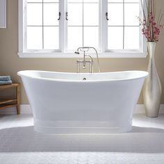 "72"" Langly Cast Iron Double-Slipper Pedestal Tub - Bathroom"