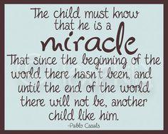 Nursery print The child is a miracle Boy Nursery by Lexiphilia