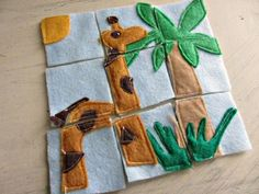 These homemade felt puzzles are great for busy bags