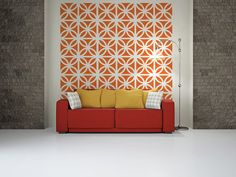 Mid Century Modern Bricks, Brick Wall Decals, Mid Century Modern Wall Art, Retro Wall Decal, Geometric Wall Decals, Modern Wall Decal  THIS SET INCLUDES (3) PANELS THAT EACH MEASURE APPROX. 28 X 85. Each panel contains 12 individual bricks that will come prearranged for easy installation. Each order contains 36 bricks, or 6 rows as shown in the listing photo. Each square measures 13.5 x 13.5. Need additional panels to complete your project? Contact us for add on pricing.  NOTE: Wall decal…