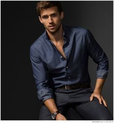 Andrew Cooper Models Limited Edition Styles from Massimo Dutti Fall 2014 Avenue Collection image Massimo Dutti Fall Winter 2014 NYC Ave Collection 012 Andrew Cooper, Fashion Moda, Mens Fashion, Fashion Outfits, Style Fashion, Men's Outfits, Stylish Men, Men Casual, Smart Casual