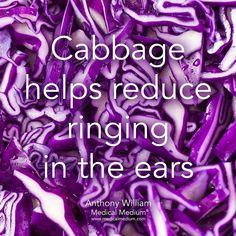 4,863 vind-ik-leuks, 42 reacties - Medical Medium® (@medicalmedium) op Instagram: 'Cabbage helps reduce ringing in the ears  Learn more about the healing powers of cabbage in Life-…'