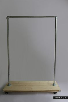 Vorhut industrial style clothes rail and shoe rack.