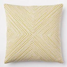 Diamond Dot Crewel Pillow Cover - Leek just random leek colored pillows at WE Modern Throw Pillows, Colorful Pillows, Accent Pillows, Grey Yellow Nursery, Pillow Room, Pillow Talk, Apartment Makeover, Living Room Update, Fluffy Pillows