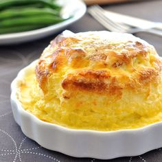 Twice Baked Make Ahead Cheese Souffle Souffle you can make ahead - freezer and refrigerator friendly. Cheesy, light as air soufflé covered in a luscious creamy sauce. Cheese Souffle, Egg Souffle, Potato Souffle, Vegetarian Recipes, Cooking Recipes, Savoury Recipes, Milk Recipes, Savoury Dishes, Cooking Tips