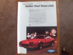 Chevrolet Hotter Than Texas Chili. Vintage Magazine advertisement ad