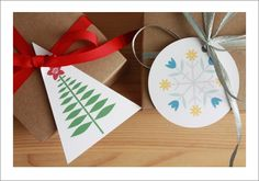 Cute and free Christmas tree and snowflake printable gift tags! Find more on the blog!